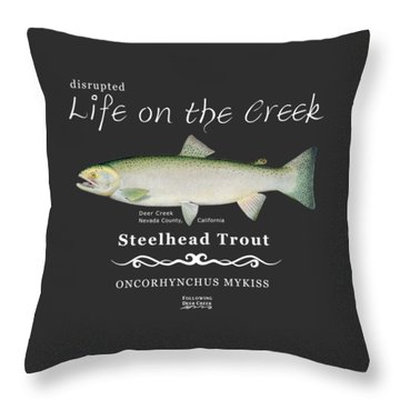 Steelhead Trout Throw Pillow