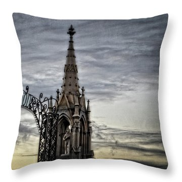 Steeple And Steel Throw Pillow