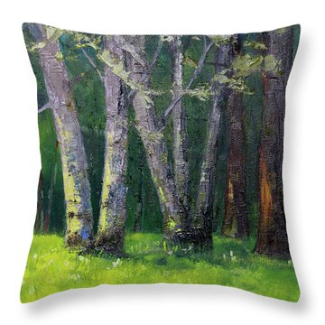 Steilacoom Forest Throw Pillow