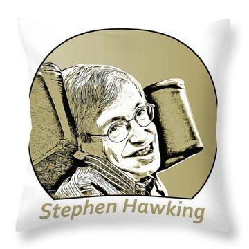 Stephen William Hawking Throw Pillow