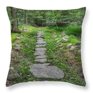 Stepping Stone Path - Kinnelon Throw Pillow