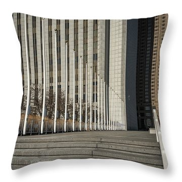 Steps And Poles Throw Pillow