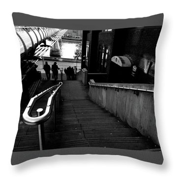 Throw Pillow featuring the photograph Steps by Edward Lee