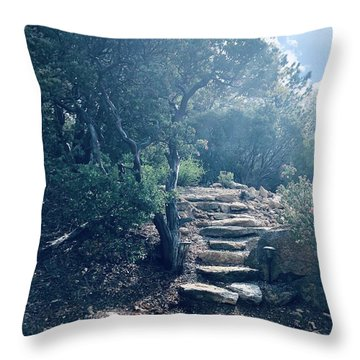 Steps To Enlightenment  Throw Pillow