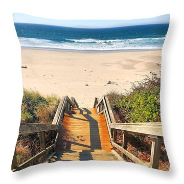 Throw Pillow featuring the photograph Steps To The Beach by Brian Eberly