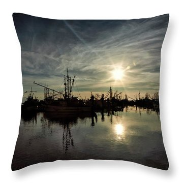 Steveston Silhouettes Throw Pillow