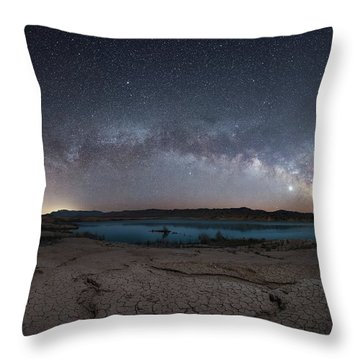 Stewarts Point Milky Way Pano  Throw Pillow