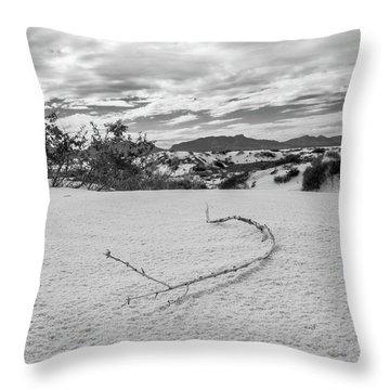 Sticky Sand Throw Pillow