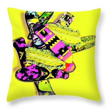 Still Life Street Skate Throw Pillow