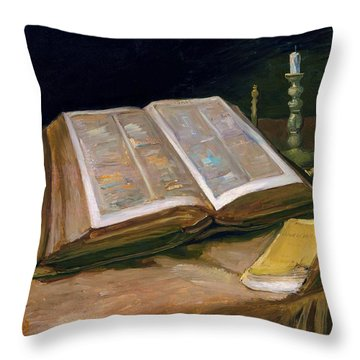Still Life With Bible - Digital Remastered Edition Throw Pillow