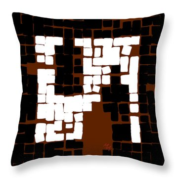 Throw Pillow featuring the digital art Still Life With Four Bottles by Attila Meszlenyi