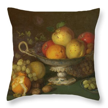 Still Life With Fruit, 1844 Throw Pillow