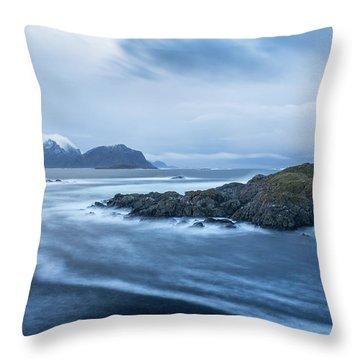 Still Rocks In The Storm Throw Pillow