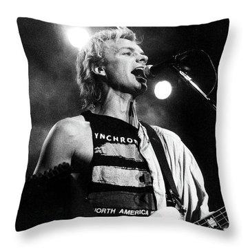 Sting 1984 Throw Pillow