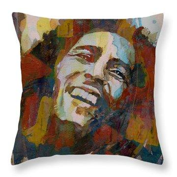 Stir It Up - Retro - Bob Marley Throw Pillow