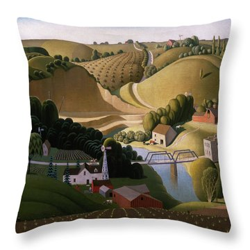 Stone City, 1930 Throw Pillow
