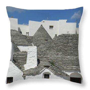 Stone Coned Rooves Of Trulli Houses Throw Pillow