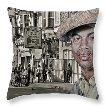 Stone On The Dangerous Streets Throw Pillow
