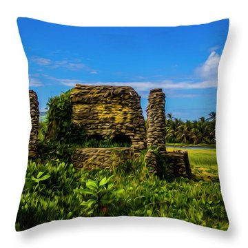 Stone Oven Throw Pillow