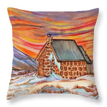 Stone Refuge Throw Pillow