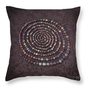 Stone Spriral Throw Pillow