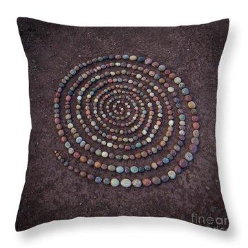 Stone Spriral Throw Pillow