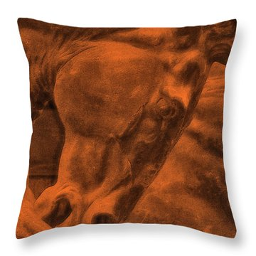 Stone Steed Reds Throw Pillow