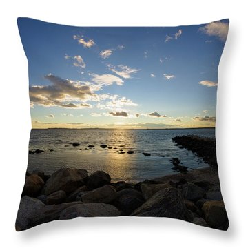 Stonington Point On The Rocks - Stonington Ct Throw Pillow