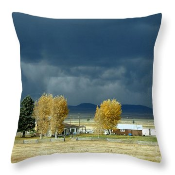 Throw Pillow featuring the photograph Storm Brewing by Rosanne Licciardi