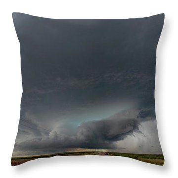 Storm Chasin In Nader Alley 008 Throw Pillow