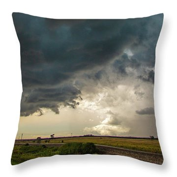Storm Chasin In Nader Alley 012 Throw Pillow