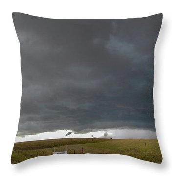 Storm Chasin In Nader Alley 016 Throw Pillow