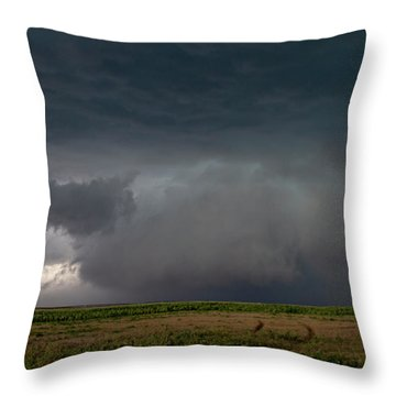 Storm Chasin In Nader Alley 030 Throw Pillow