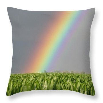 Storm Chasing After That Afternoon's Naders 023 Throw Pillow