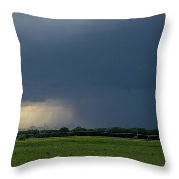 Storm Chasing West South Central Nebraska 002 Throw Pillow
