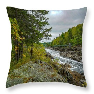 Storm Clouds At Jay Cooke Throw Pillow