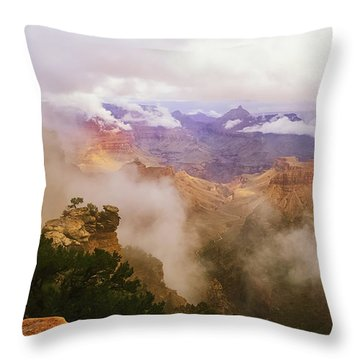 Storm In The Canyon Throw Pillow