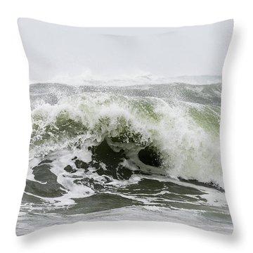 Storm Surf Spray Throw Pillow