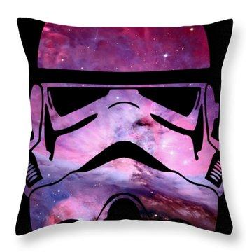 Storm Trooper Nebula Throw Pillow