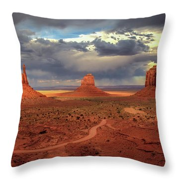 Stormy Background Throw Pillow