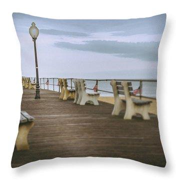 Stormy Boardwalk 2 Throw Pillow