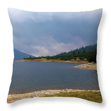 Throw Pillow featuring the photograph Stormy by Milena Ilieva