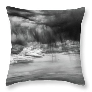 Stormy Sky In Black And White Throw Pillow