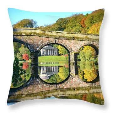 Stourhead Autumn Throw Pillow