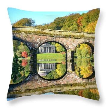 Stourhead Autumn Throw Pillow