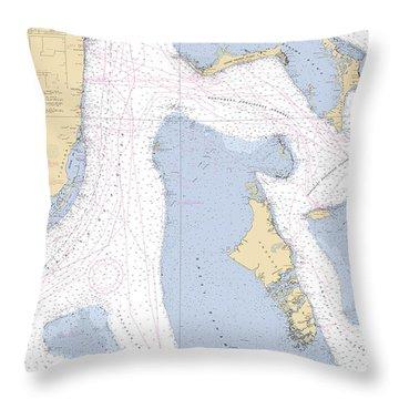 Straits Of Florids, Eastern Part Noaa Chart 4149 Edited. Throw Pillow