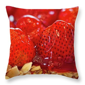 Strawberry Glaze Throw Pillow