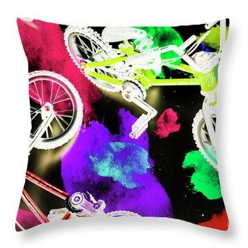Street Bike Art Throw Pillow