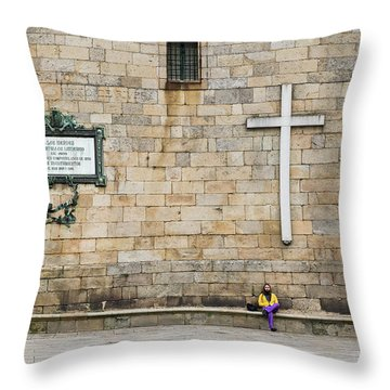 Throw Pillow featuring the photograph Street Color by Alex Lapidus