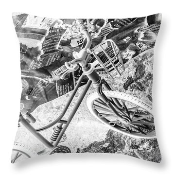 Street Cycles Throw Pillow